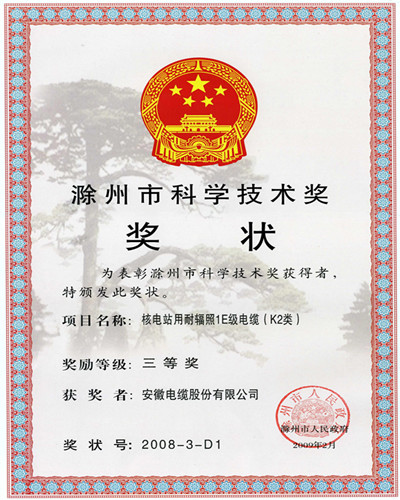 Chuzhou Science & Technology Prize